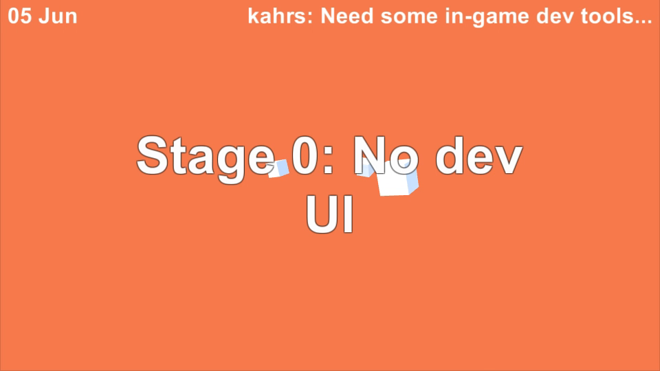 No developer UI